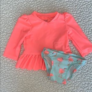 Baby swimsuit with rash guard